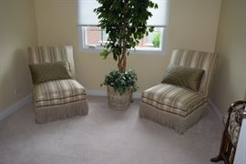 2 Accent Chairs, Silk Tree