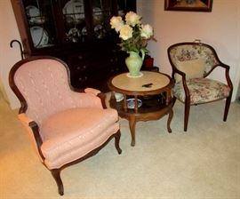 Hutch and parlor chairs