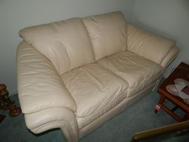 """Elite"" Leather Loveseat - Has Matching Chair and Ottoman"