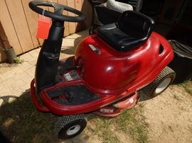 "'White Outdoor"" Riding Mower"