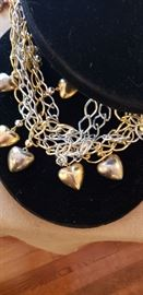 fancy necklace with hearts