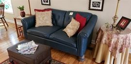 Leather Love Seat (part of Set)