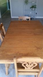 OLD OAK TABLE HAS BUFFET TO MATCH