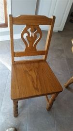 OLD OAK CHAIR FOR TABLE