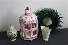 Peacock and bird decor