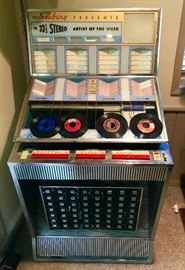 1960 Seeburg Select-O-Matic Model Q160 Juke Box SN#101815-will be sold as is, was working til moved, needs minor service-full of records-used poolside-great concept piece