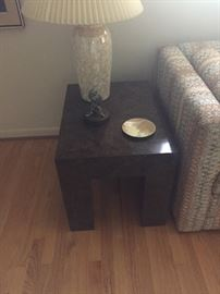 Side Table - modern and lamp