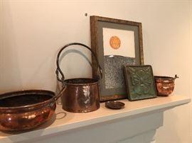 Pewabic pottery, vintage copper pails and more!