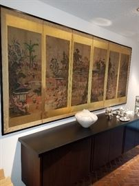 "KOREAN 6 PANEL SCREEN DEPICTING ""THE HUNDRED BOYS AT PLAY"""