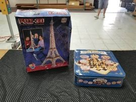 Lot of Family Fun Board Games and 3D Puzzle