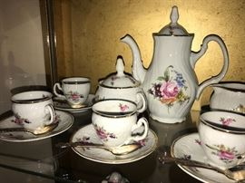 Bernadotte Porcelain tea set- Czechoslavakia