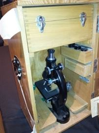 Olympus Microscope owned by noted Kansas City area physician and surgeon