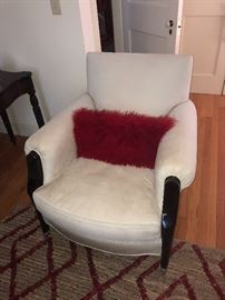 Italian made pigskin art deco style club chair (1 of 2)