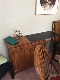 Vintage Flip top table cabinet