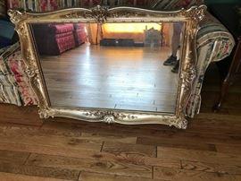 #15Gold Framed Mirror   44x32 Heavy $65.00