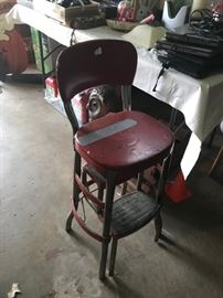 #10	red step chair stool 	 $20.00
