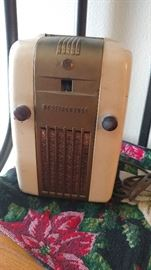 "Westsinghouse vintage ""Little Jewel"" am radio, in working condition!"