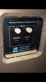 Electro Voice Interface B Speakers