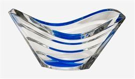 Baccarat Blue Wave Crystal Bowl