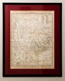 druck und verlag von c. flemming in glogau Texas map