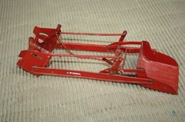 """Vintage I H McCormick Farm Toy Plow Attachment / ~11"""" long, Signs of use, May be missing parts"""