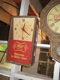 Miller High Life clock.