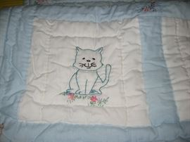 Children's embroidered quilt (new).