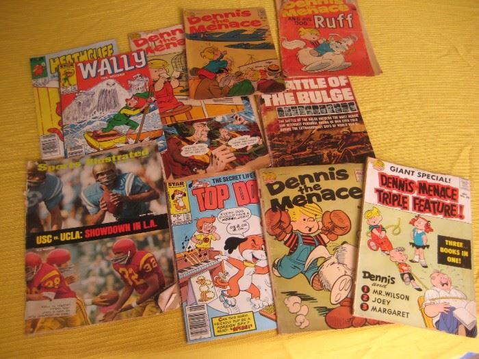 Vintage Comic books.