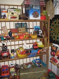 Toy shelf.