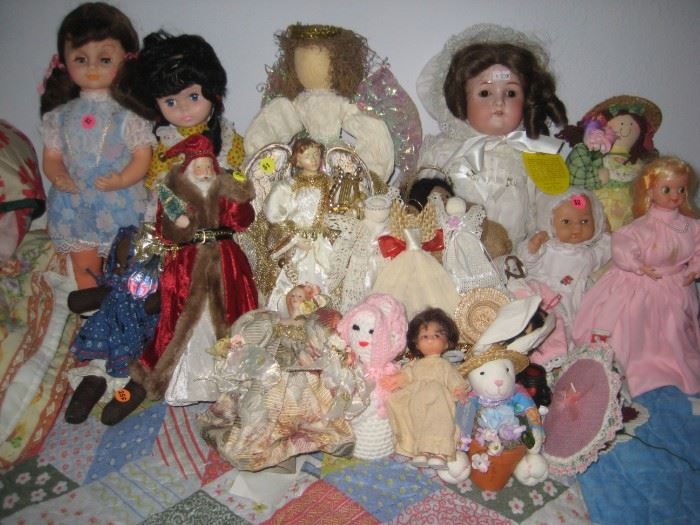 Vintage and new dolls.