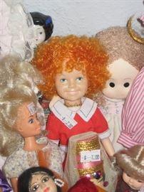 Popular dolls including Annie.
