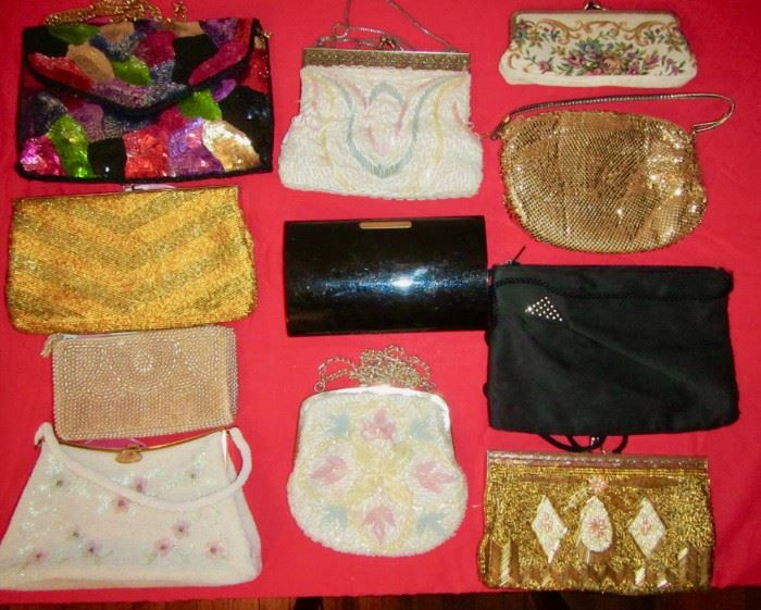 Vintage Evening Bags, Beaded. Oe plastic from early 1960's.