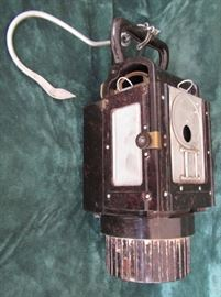 German WWII Carbide lamp with German insignia.