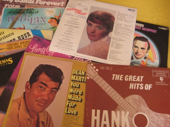 Vintage long-playing albums in excellent condition.