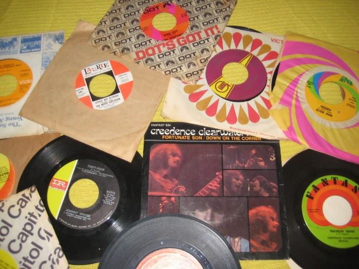 .45 records in excellent condition.