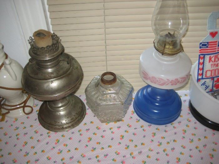 Perfection and other kerosene lamps.