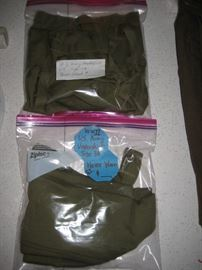 World War II G.I. undershirts (2) never used.  Other G.I. clothing items also.