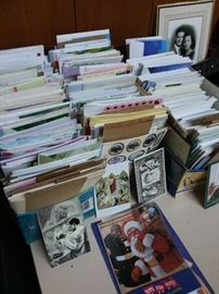 Box Lots of unused greeting cards