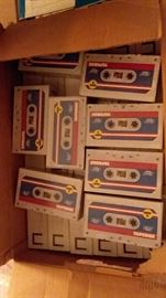 Old Stock 1980s cassette boxes