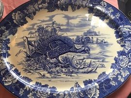 Great turkey platter Woods Burslem made in England