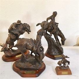 Remington Bronze Figurines