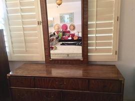 Drexel Triple Dresser w/ Mirror