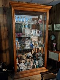 $125  Large glass front display cabinet