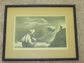 """Haying"" by Georges Schreiber signed lithograph"