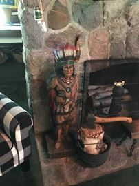 Cigar store Indian.