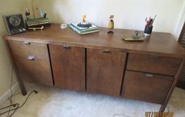 "mid century credenza 5' wide, 30"" high , 29"" deep"