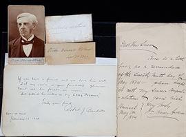 Oliver Wendell Holmes Theobald MathewetcAutographs