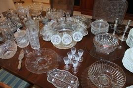 Lots of glassware and crystal (some of these items have sold)