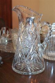 Roden Bros. Canada cut glass pitcher