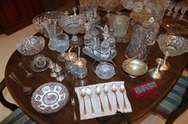 Crystal / glassware (some of these items have sold)